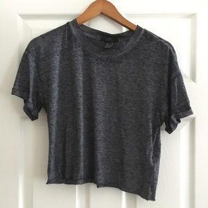 NWT Forever 21 Crop T-Shirt Heather Gray